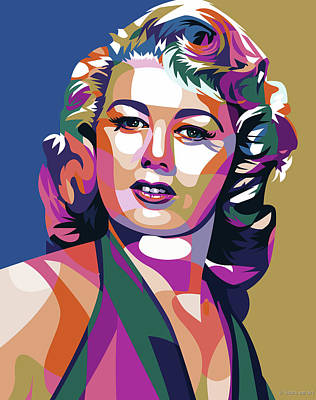 Curated Round Beach Towels - Shelly Winters by Stars on Art