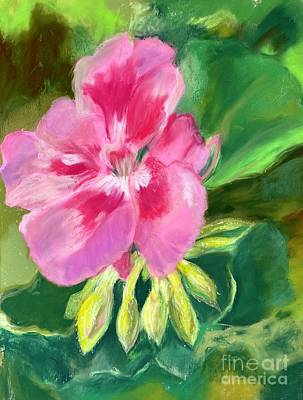 City Scenes - Sheras Geranium by Glenda Zuckerman