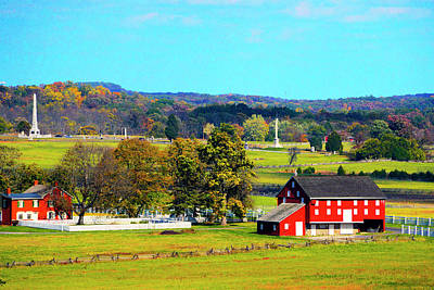 Royalty-Free and Rights-Managed Images - Sherfy Farm and Barn by Paul W Faust - Impressions of Light