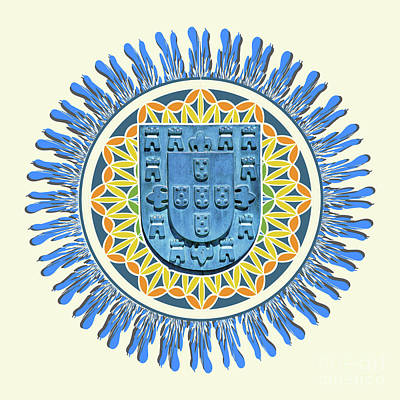 Sara Habecker Folk Print - Shield of Portugal artwork by Gaspar Avila
