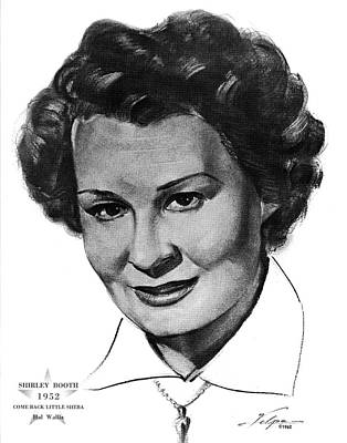 Drawings Royalty Free Images - Shirley Booth by Volpe Royalty-Free Image by Stars on Art