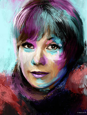 Modern Man Air Travel - Shirley MacLaine by Stars on Art