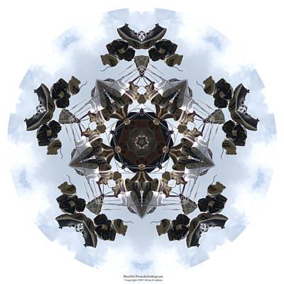 Digital Art - Shoefiti Pentakaleidogram by Brian Gryphon