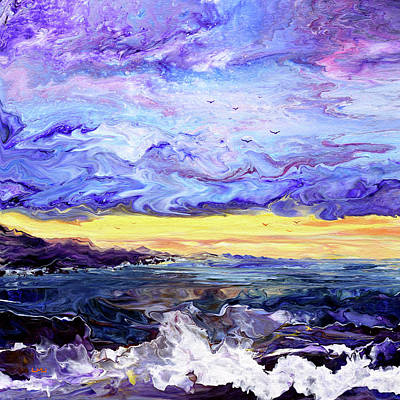 Royalty-Free and Rights-Managed Images - Shore at Purple Twilight by Laura Iverson
