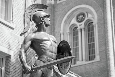 Lake Life - Side of USC Trojan Statue at USC by John McGraw