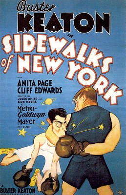 Royalty-Free and Rights-Managed Images - Sidewalks of New York, with Buster Keaton, 1931 by Stars on Art