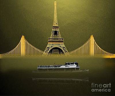 Curated Beach Towels - Sightseeing Eiffel Tower by Belinda Threeths