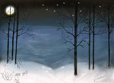 Digital Art - Silent Night by Kristen Wambach