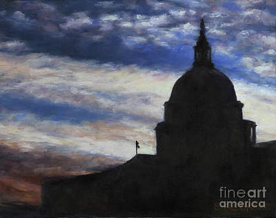 Painting - Silhouette Dome by Elizabeth Roskam