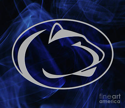 Sports Royalty-Free and Rights-Managed Images - Silver And Blue Penn State Nittany Lion Mystique by John Stephens