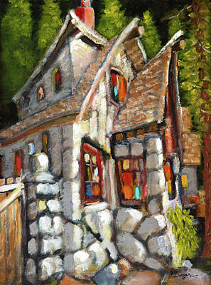 Painting - Silver Falls Lodge by Mike Bergen