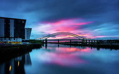 Photograph - Silver Jubilee Bridge Sunset  by Andrew George Photography
