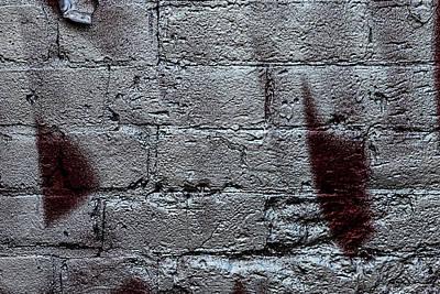 Mellow Yellow - Silver Paint on Brick Wall by Robert Ullmann