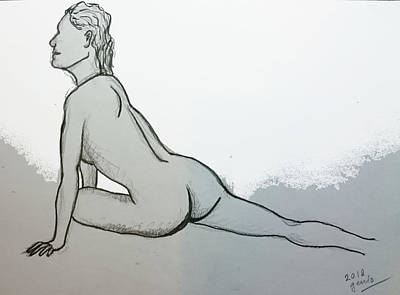 Fantasy Royalty-Free and Rights-Managed Images - Simple Beauty Drawing by Genio GgXpress