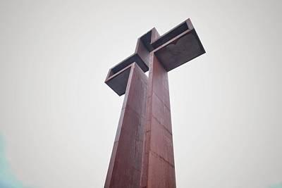 Winter Animals - Simple Dramatic Cross Christian Spiritual Religious by Buck Buchanan