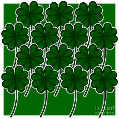 Photograph - Simple Shamrock  Pattern for Saint Patricks Day by Colleen Cornelius