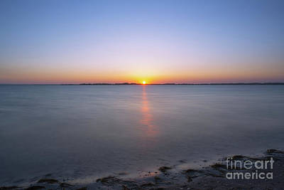 Vintage Movie Stars Royalty Free Images - Sinepuxent Bay Sunset in Maryland Royalty-Free Image by Michael Ver Sprill