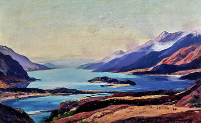 The Champagne Collection - Sir David Young Cameron R A R S A R W S 1865 1945 Loch Shiel by Artistic Rifki
