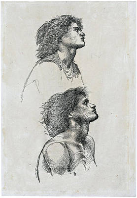 Firefighter Patents Royalty Free Images - SIR EDWARD COLEY BURNE JONES BT A R A R W S  BRITISH 1833 1898 Two studies of a male  in profile bus Royalty-Free Image by Artistic Rifki