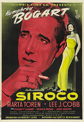 Typography Tees - Sirocco, with Humphrey Bogart, 1951 by Stars on Art