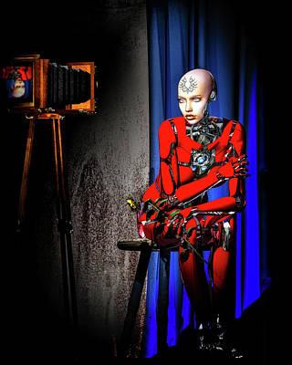 Surrealism Digital Art - Sitting For The Camera by Bob Orsillo