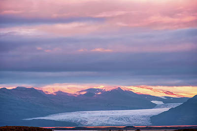 Ballerina Art - Skaftafellsjokull Glacier Tongue in Iceland at Sunset III by Alexios Ntounas
