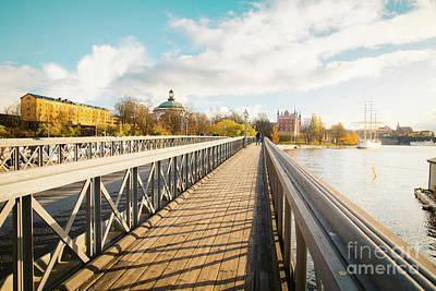 Grimm Fairy Tales - Skeppsholmen bridge in Stockholm at sunset by JR Photography