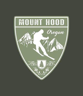 Lucille Ball - Ski Mount Hood Oregon by Jared Davies