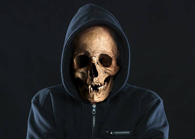 State Love Nancy Ingersoll - Skull Hoodie by Toni Jaso