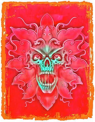 Blue Hues - Skull Monster 2 by John Shepherd