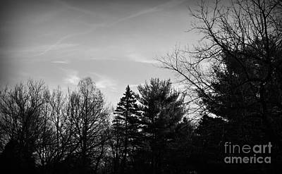 Frank J Casella Royalty-Free and Rights-Managed Images - Sky Patterns Black and White by Frank J Casella