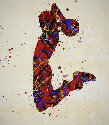 Sports Paintings - Slam Dunk by Dan Sproul