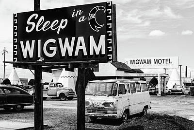 Hollywood Style - Sleep in a Wigwam - Route 66 by Stephen Stookey