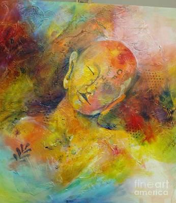 Mixed Media - Sleeping Buddha by Sandra Taylor-Hedges