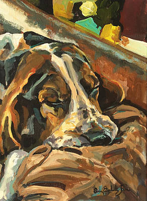 Recently Sold - Susan Elizabeth Jones Royalty-Free and Rights-Managed Images - Sleeping Pup by Susan Elizabeth Jones