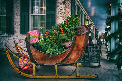Red Roses - Sleigh Ride - Grafton, Vermont by Joann Vitali