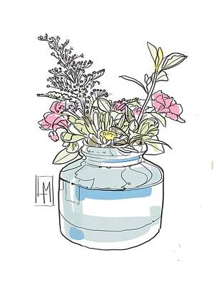Target Threshold Watercolor - Small Bouquet by Luisa Millicent
