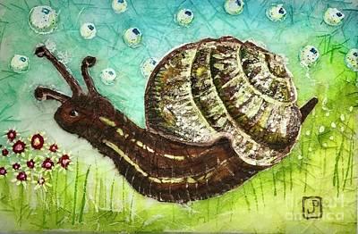 Painting - Snail Dreams by Jannett Prusik