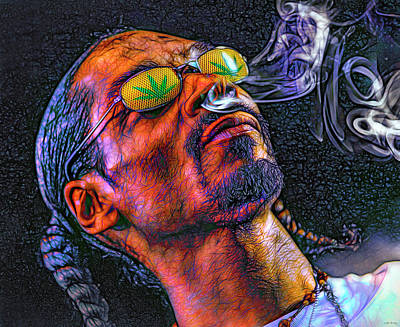 Abstract Graphics Rights Managed Images - Snoop Dog Rapper Royalty-Free Image by Mal Bray