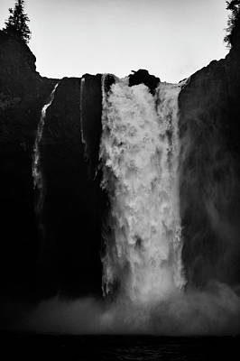 Trick Or Treat - Snoqualmie Falls Black and White 5 by Pelo Blanco Photo
