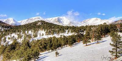 Jerry Sodorff Royalty-Free and Rights-Managed Images - Snow Covered Meadow DS by Jerry Sodorff
