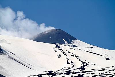 Granger - Snow covered Mount Etna, Sicily. by Joe Vella