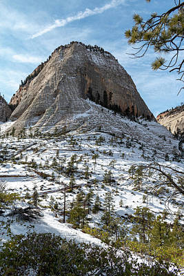 Unicorn Dust - Snow on Cathedral Mountain by Nathan Lofland