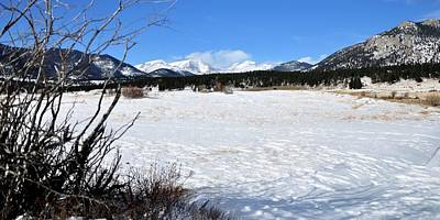 Jerry Sodorff Royalty-Free and Rights-Managed Images - Snow On Moraine Flats by Jerry Sodorff