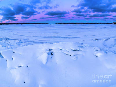 Royalty-Free and Rights-Managed Images - Snow on Portage Lake by Twenty Two North Photography