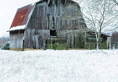 Anchor Down Royalty Free Images - Snow on the Barn Royalty-Free Image by Douglas Barnett