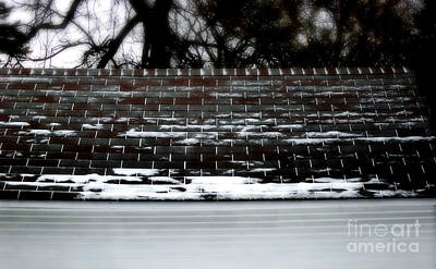 Frank J Casella Royalty-Free and Rights-Managed Images - Snow Patterns on the Roof by Frank J Casella