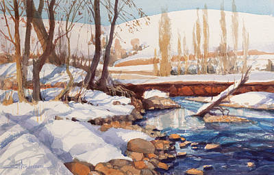 Royalty-Free and Rights-Managed Images - Snow Retreat by Steve Henderson