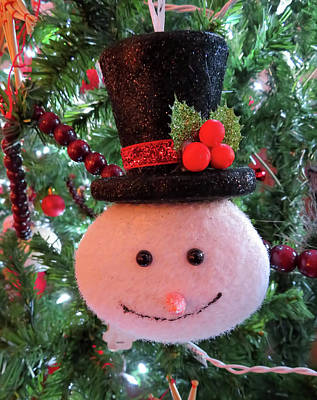 Animals Royalty-Free and Rights-Managed Images - Snowman by Jennifer Wheatley Wolf