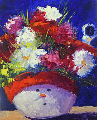 Painting - Snowman by Terry Chacon